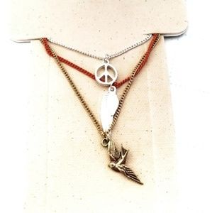 Dove Peace Sign Necklaces Jewelry